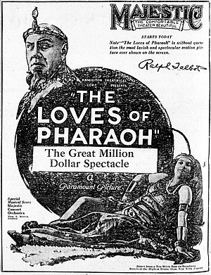 The Loves of Pharaoh - A contemporary newspaper advertisement for the American release of the film.