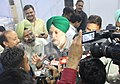 The Minister of State for Housing and Urban Affairs (IC), Shri Hardeep Singh Puri interacting with the media, at the MUDRA Promotion Campaign, in Chandigarh on October 04, 2017.jpg