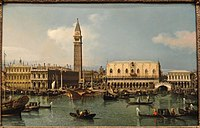 The Molo from the Basin of San Marco, Venice, by Canaletto, c. 1747-1750 - San Diego Museum of Art - DSC06703.JPG