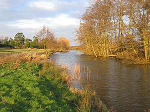 North Walsham & Dilham Canal - The canal looking northwards towards Tonnage Bridge