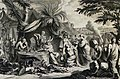 The Phillip Medhurst Picture Torah 469. Offerings to the sanctuary. Exodus cap 36 vv 1-7. Mortier.jpg