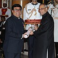 The President, Shri Pranab Mukherjee presenting the Padma Shri Award to Prof. (Dr.) Mahesh Verma, at an Investiture Ceremony-II, at Rashtrapati Bhavan, in New Delhi on April 26, 2014.jpg