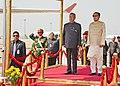 The President, Shri Pranab Mukherjee with the President of Bangladesh, Mr. Md. Zillur Rahman on his Ceremonial arrival, at Hazarat Shahjalal International Airport, Dhaka Bangladesh on March 03, 2013.jpg