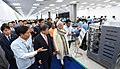 The Prime Minister, Shri Narendra Modi and the President of the Republic of South Korea, Mr. Moon Jae-in taking a tour of World's Largest Mobile Factory, in Noida, Uttar Pradesh on July 09, 2018 (1).JPG