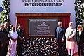 The Prime Minister, Shri Narendra Modi and the Prime Minister of Israel, Mr. Benjamin Netanyahu inaugurating the iCreate Center, at Deo Dholera Village, in Ahmedabad, Gujarat (1).jpg