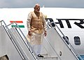 The Prime Minister, Shri Narendra Modi arrives at Paro International Airport, in Bhutan on June 15, 2014.jpg
