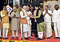 The Prime Minister, Shri Narendra Modi at an event to dedicate the Bidar - Kalaburagi New Railway Line to the Nation, at Bidar Railway Station, in Karnataka.jpg