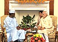 The Prime Minister, Shri Narendra Modi meeting the President of Chad, Mr. Idriss Deby, during the 3rd India Africa Forum Summit, in New Delhi on October 28, 2015 (1).jpg