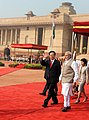 The Prime Minister, Shri Narendra Modi with the Prime Minister of Socialist Republic of Vietnam, Mr. Nguyen Tan Dung, at the Ceremonial Reception, at Rashtrapati Bhavan, in New Delhi on October 28, 2014 (1).jpg