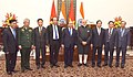 The Prime Minister, Shri Narendra Modi with the Prime Minister of the Socialist Republic of Vietnam, Mr. Nguyen Xuan Phuc and other dignitaries, at Hyderabad House, in New Delhi on January 24, 2018.jpg