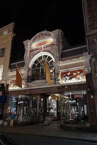 Royal Arcade, London - Royal Arcade during night