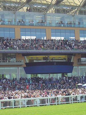 English: The Royal Box at Ascot Racecourse The...