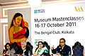 The Secretary, Ministry of Culture, Shri Jawahar Sircar at opening panel discussion of Museum Master classes Programme, in Kolkata on October 16, 2011. The Director, V&A Museum, London, Mr. Martin Roth is also seen.jpg
