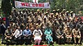 The Union Home Minister, Shri Rajnath Singh in a group photograph with the Central Reserve Police Force (CRPF) and Jammu & Kashmir Police personnel, in Kupwara, Jammu & Kashmir.JPG