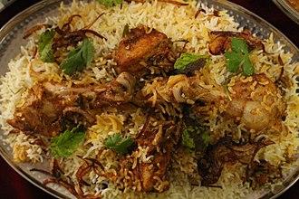 Mughlai cuisine - Biryani