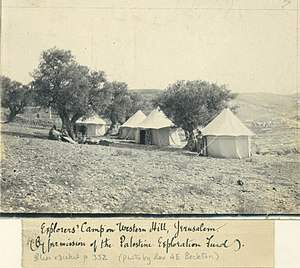 Frederick J. Bliss - The camp of Bliss on Mount Zion 1894-1897