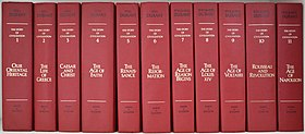 The collection of 11 volumes of the Story of Civilization by Will and Ariel Durant.jpg