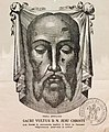 The effigy of the Veil of Veronica (touched to the original veil) Relic Tour Utah USA 2017.jpg