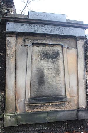 Sir Thomas Hope, 1st Baronet - The grave of Sir Thomas Hope, Greyfriars Kirkyard