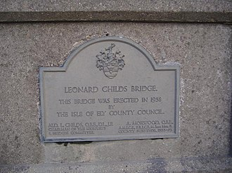 Isle of Ely - This plaque in Chatteris serves as a reminder of the Isle's county status