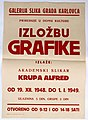 The poster from the one man exhibition of the printmakings of Alfred Krupa (1915-1989) held in 1948.jpg