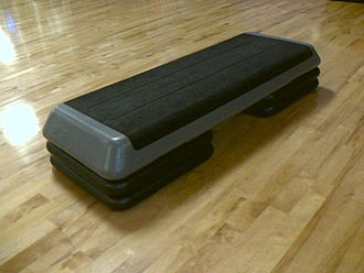 Aerobics - a step with 2 risers
