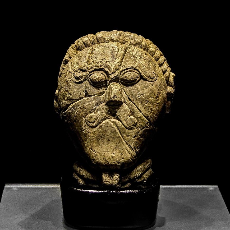 The stone head of a Celt