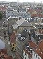 The synagogue in Krystalgade, Copenhagen from above.jpg