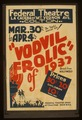 "The tuneful musical hit! ""Vodvil frolic"" of 1937 - direct from Hollywood LCCN98516883.tif"