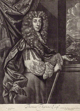 Thomas Thynne (died 1682) - Thomas Thynne.  Mezzotint by Alexander Brown, ca. 1680-84, after Sir Peter Lely