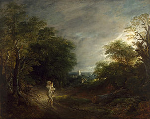 Wooded Landscape with a Woodcutter