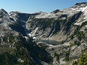 Cirque - Upper Thornton Lake Cirque in North Cascades National Park, US