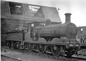 Three Bridges railway station - Three Bridges Locomotive Depot, 11 December 1948, before the roof was repaired
