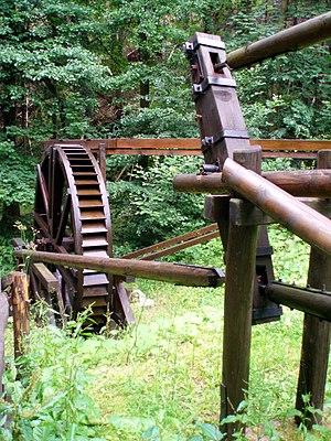 Flatrod system - Water wheel and flatrods (Aufgeklärtes Glück Mine)