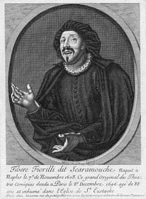 "Tiberio Fiorilli - ""That excellent comedian..."" Tiberio Fiorilli in a 1700 engraving."