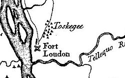 Simple line drawing of a map of Toskegee