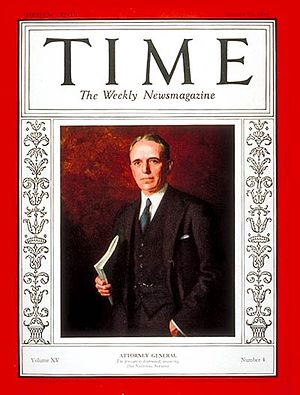 William D. Mitchell - ''Time'' magazine cover of William D. Mitchell, (January 27, 1930).