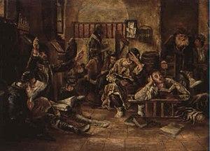 Tisha B'Av - Lamenting in the synagogue, 1887