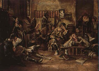Tisha B'Av - Lamenting in the synagogue, 1887