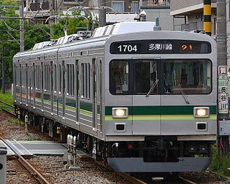 Tokyu 1000 series - Set 1504 on the Tamagawa Line in May 2014