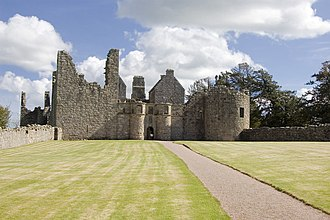 Clan Forbes - The ruins of Tolquhon Castle, seat of the Forbes of Tolquhon branch of the clan