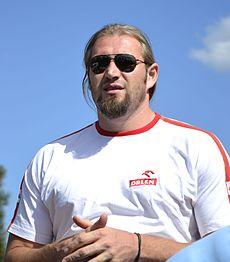 Tomasz Majewski na stadionie Orła podczas 4. Mityngu Kamili Skolimowskiej 25 sierpień 2013.JPG