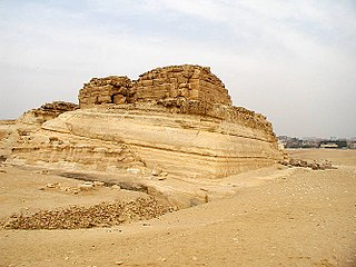 Pyramid of Khentkaus I Step tomb of a Fourth Dynasty Queen