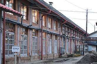 Tomioka, Gunma - Japan's first modern silk reeling factory at Tomioka, designed by the French engineer Paul Brunat in 1872, essentially Japan's first modern factory of the Meiji Period.