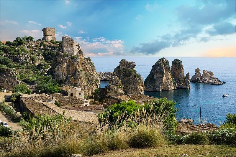 Fájl: Tonnara di Scopello (Castellammare del Golfo) - Trapani, Szicília - Olaszország - (1) .jpg