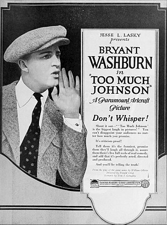 Too Much Johnson (1919 film) - Trade advertisement.