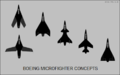 Top-view silhouettes of Boeing microfighter concepts.png