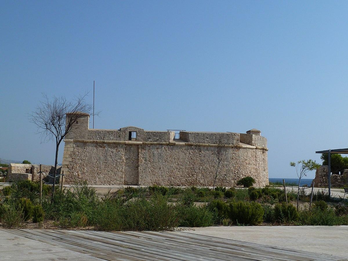 Torre fortalesa de Sant Jordi d'Alfama Castell i Fortí de Sant Jordi d'Alfama- a1.JPG