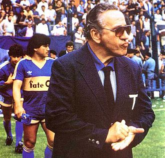 Juan Carlos Lorenzo - Lorenzo as coach of Boca Juniors in 1987, his second tenure on the club.