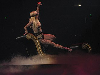"The Circus Starring Britney Spears - Spears performing ""Touch of My Hand"" in Sacramento."